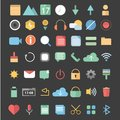 Mobile Flat Icons Royalty Free Stock Photo