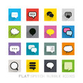 Flat icons speech bubbles icon designs layered vector illustration Royalty Free Stock Image