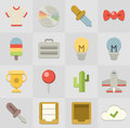 Flat icons universal for web and mobile applications Royalty Free Stock Photo