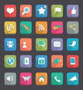 Flat icons vector for web mobile app Royalty Free Stock Photo