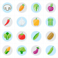 Flat Icons Vegetables Icons Ve...