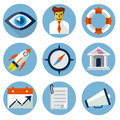 Flat icons for web and mobile applications vector Stock Photos