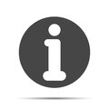 Flat info icon on a white background Royalty Free Stock Photography