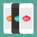 Mobile Device Smartphone Template. Vector Elements. Isolated Phone Flat Illustration. EPS10