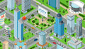 Flat isometric city road model vector.