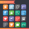Flat Law Legal Justice Icons and Symbols Vector Illustration Royalty Free Stock Photo