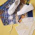 Flat Lay Shot Of Female Holiday Clothing And Accessories Royalty Free Stock Photo