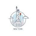 Flat line deisgned icon - New York