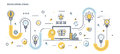 Flat Line Design Header - Developing ideas