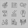 Flat Line Icons for Web Development