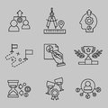 Flat Line Icons for Web Development. Royalty Free Stock Photo