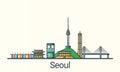 Flat line Seoul banner