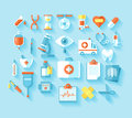 Flat medical icons set.