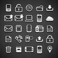 Flat metallic universal icons set vector illustration Stock Photos