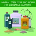 Flat Mineral Fertilizers and Means for Combating. Royalty Free Stock Photo