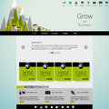 Flat modern eco website template in editable vector format Stock Images