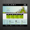 Flat modern eco website template in editable vector format Stock Photo