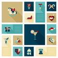 Flat modern style winter holidays web icon set decoration Royalty Free Stock Photo
