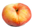 Flat peach on white background a Royalty Free Stock Image