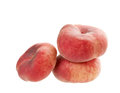 Flat peaches isolated Royalty Free Stock Photo