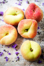 Flat peaches Royalty Free Stock Photo