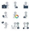 Flat people business collection of on vector illustration Royalty Free Stock Photos