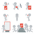 Flat people promotion collection of on vector illustration Stock Images