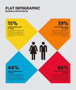Flat percentage infographic this is a Stock Image