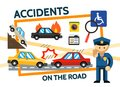 Flat Road Accidents Composition