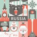 Flat Russian Symbols