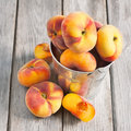Flat or saturn peaches Royalty Free Stock Photo