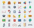 Flat School Icons Vector Collection