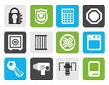 Flat Security and Business icons Royalty Free Stock Photo