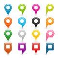 Flat Set Map Pin Icon
