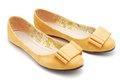 Flat shoe pair on white Royalty Free Stock Photo