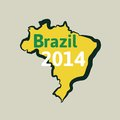 Flat simple brazil map vector background illustration Stock Photography