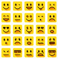 Flat smiley icons Royalty Free Stock Photo