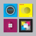 Flat style Abstract colorful Posers Set. Art Graphic Backgrounds Retro .