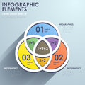 Flat style abstract intersection chart infographics design vector infographic elements Stock Photography