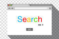 Flat style browser window on transparent background