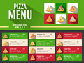 Flat style fast food pizza menu design Royalty Free Stock Photo