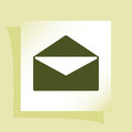 Flat style icon of envelope. E-mail Royalty Free Stock Photo