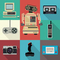 Title: Flat style vintage vector objects