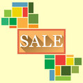 Flat summer sale design for banner Royalty Free Stock Images