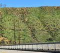 steel bridge at the foothills of flat top mountains Royalty Free Stock Photo