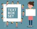 Flat type Ballet Bun hair Apron mom_text box
