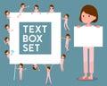 Flat type patient woman_text box