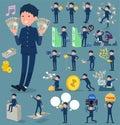 Flat type school boy gakuran_money