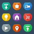 Flat UI icons set Royalty Free Stock Image