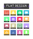 Flat ui icons special for web and mobile applications Stock Image